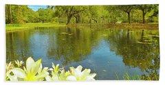 Botanical Gardens Pond Beach Sheet