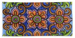 Botanical Mandala 1 Beach Towel