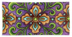 Botanical Mandala 10 Beach Towel