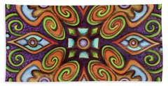 Botanical Mandala 11 Beach Towel