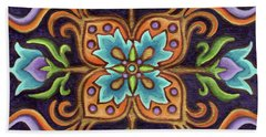 Botanical Mandala 12 Beach Towel