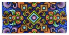 Botanical Mandala 3 Beach Towel