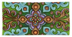 Botanical Mandala 4 Beach Towel