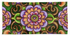 Botanical Mandala 5 Beach Towel