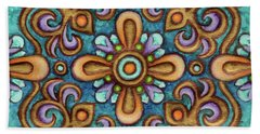 Botanical Mandala 7 Beach Towel