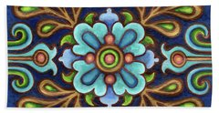 Botanical Mandala 9 Beach Sheet