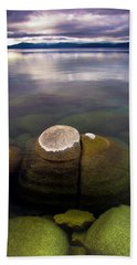 Boulders Underwater At Sand Harbor Beach Towel