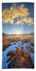 Beach Towel featuring the photograph Bound Within The Silence by Phil Koch