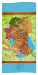 Bouquet From Fallen Leaves Beach Sheet