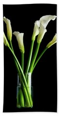 Bouquet Of Calla Lilies Beach Towel