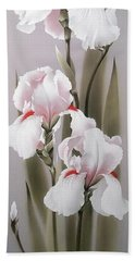 Bouquet Of White Irises Beach Towel