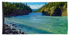Bow River In Banff Beach Towel