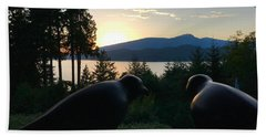 Bowen Island Crows Beach Towel