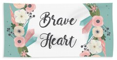Brave Heart - Boho Chic Ethnic Nursery Art Poster Print Beach Sheet