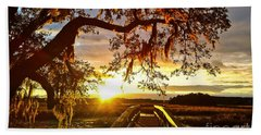 Beach Towel featuring the photograph Breaking Sunset by Robert Knight