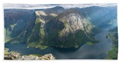 Beach Towel featuring the photograph Breiskrednosie, Norway by Andreas Levi