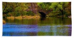 Bridge In Central Park Beach Towel