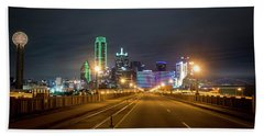 Beach Towel featuring the photograph Bridge To Dallas by David Morefield