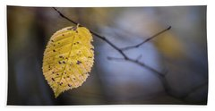 Beach Towel featuring the photograph Bright Fall Leaf 1 by Michael Arend