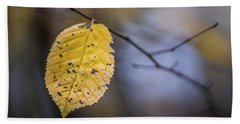 Beach Towel featuring the photograph Bright Fall Leaf 3 by Michael Arend