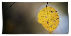 Beach Towel featuring the photograph Bright Fall Leaf 7 by Michael Arend