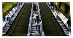 Bright Lights, Tall Escalators Beach Towel