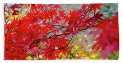 Brilliant Fall Color Beach Sheet