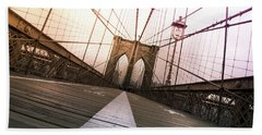 Brooklyn Bridge, New York City Beach Towel