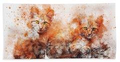 Brothers Cat Beach Towel