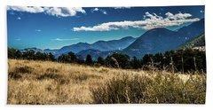 Brown Grass And Mountains Beach Sheet
