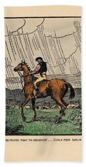 Beach Towel featuring the painting Brown Stallion, Omey by Val Byrne