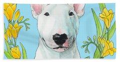 Bull Terrier Ivan Beach Sheet