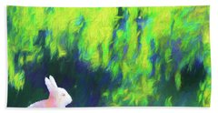 Bunny Beneath The Willow Tree - Square Beach Towel