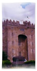 Bunratty Castle Painting Beach Towel