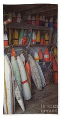Buoys In A Sea Shack Beach Towel
