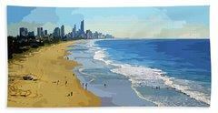 Burleigh Beach Gold Coast Australia 070708 Cartoon Beach Sheet