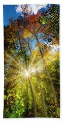 Burst Of Fall Colors Beach Sheet