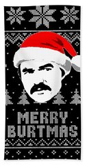 Burt Reynolds Christmas Shirt Beach Towel