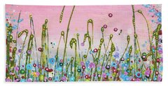 Buttercups And Lilacs Beach Towel