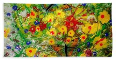 Butterfly Delight Beach Towel