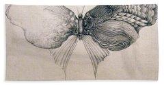 Butterfly For Jeffrey Beach Towel