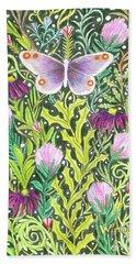Butterfly In The Millefleurs Beach Towel