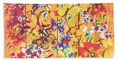 Butterfly Papercraft  Beach Towel