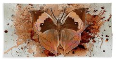 Beach Towel featuring the digital art Butterfly Splash by Jacqui Boonstra