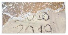 Bye Bye 2018 Welcome2019 Beach Sheet