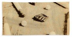 Bygone Baseball Beach Towel