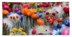 Beach Towel featuring the photograph Cacti Flowers by Top Wallpapers