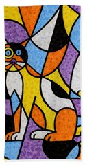Calico Kitty Beach Towel