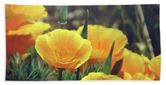 Californian Poppies In The Patagonia Beach Towel