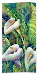 Calla Lillies Beach Towel